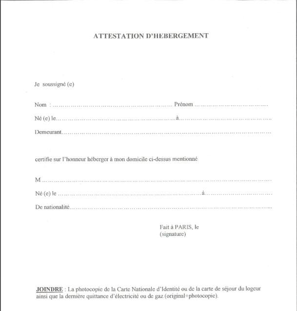 Modèle de Lettre Déclaration sur lhonneur