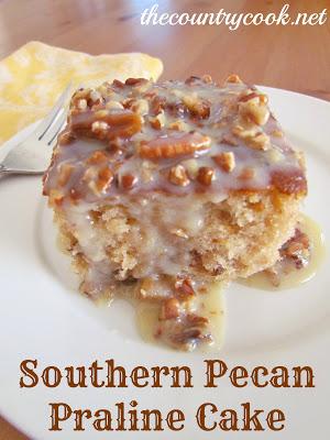 Easy Southern Praline Pecan Cake