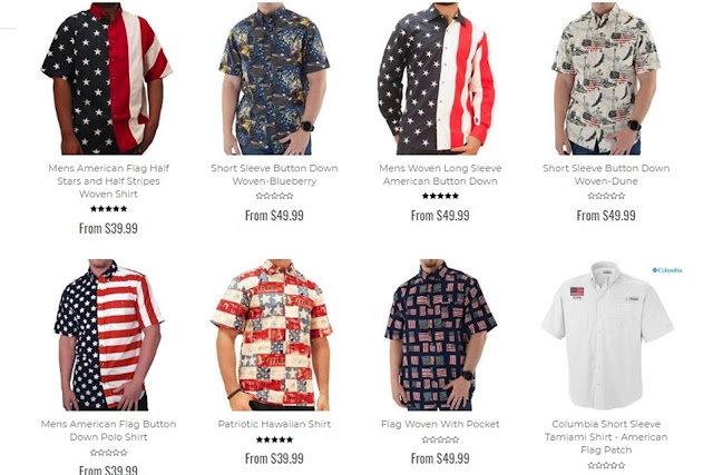 patriotic bottom up shirts design, men's bottom up shirt