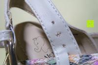 Löcher: Alexis Leroy Blockabsatz Blume gedruckt Damen Offene Sandalen mit Keilabsatz