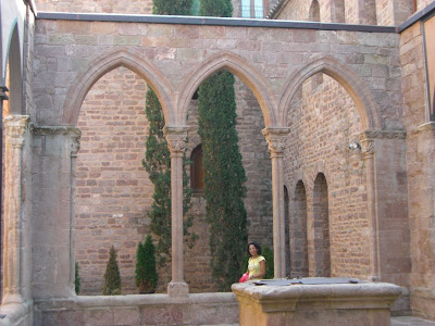 Cloister inside the Castle of Cardona