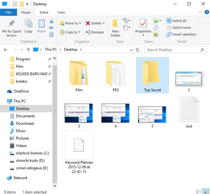 Trik Mudah Membuat Folder Tersembunyi Tanpa Software