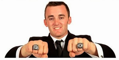 Austin Dillon Displays his Championship Rings (NASCAR Nationwide & Truck Series)