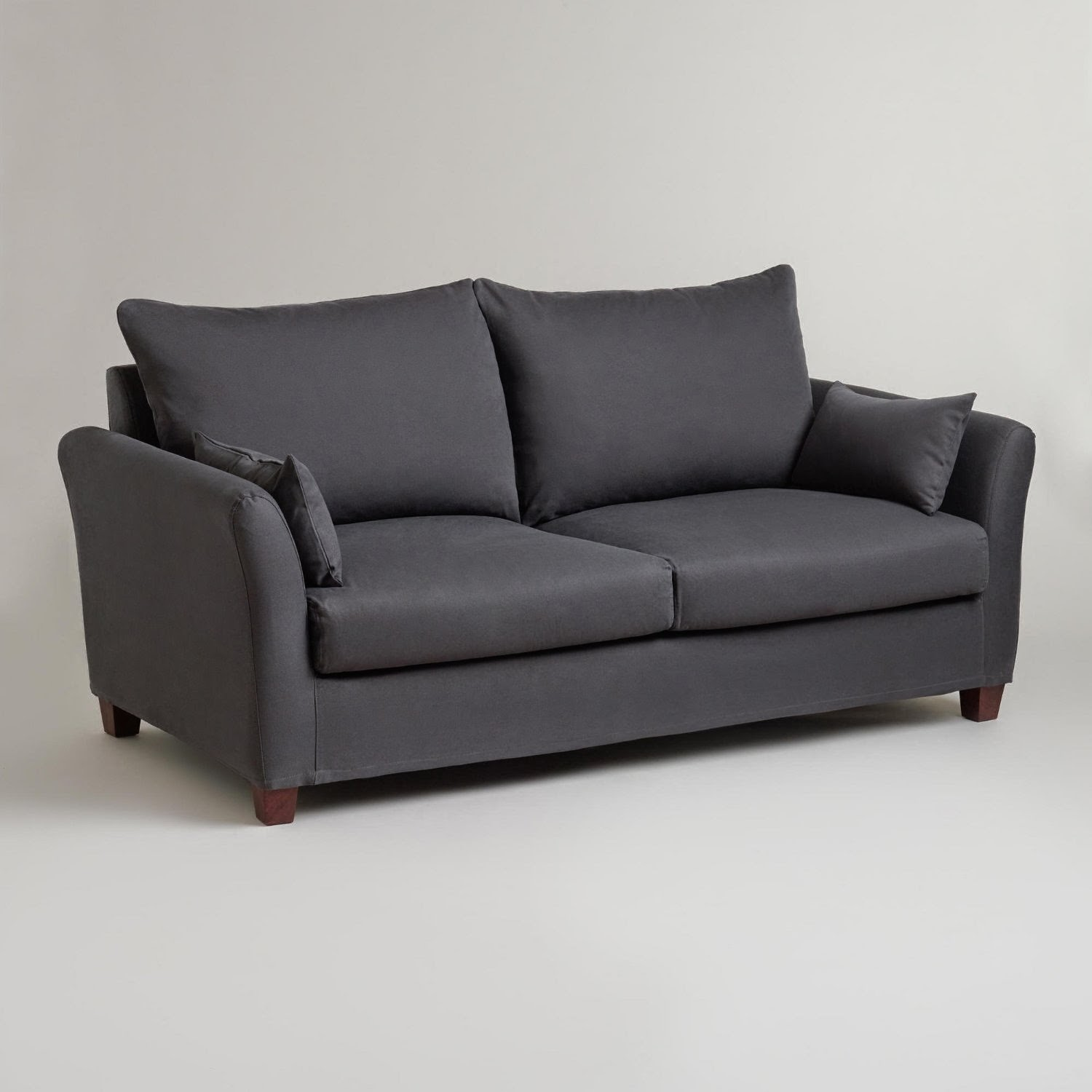 charcoal gray sofa bed small l shaped size grey couch