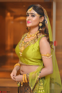 Sony Charishta in Green Choli Ghagra Transparent Chunni Ethnic Wear March 2017 011.JPG
