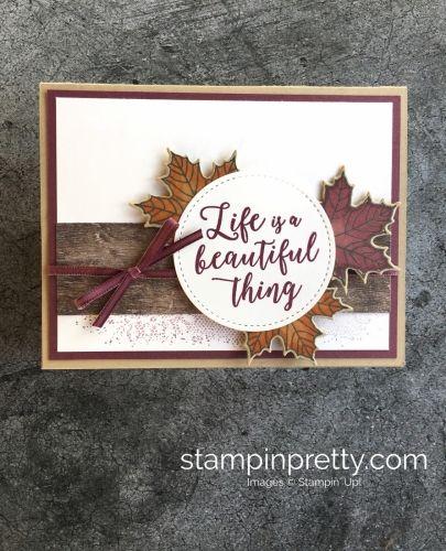 Carte d'automne Stampin'Up avec le jeu Saisons colorées
