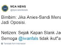 SLANK Jadi Bahan Tertawaan Netizen, karena Sesumbar Jadi OPOSISI Selepas Kekalahan Telak Sunan Kalijodo