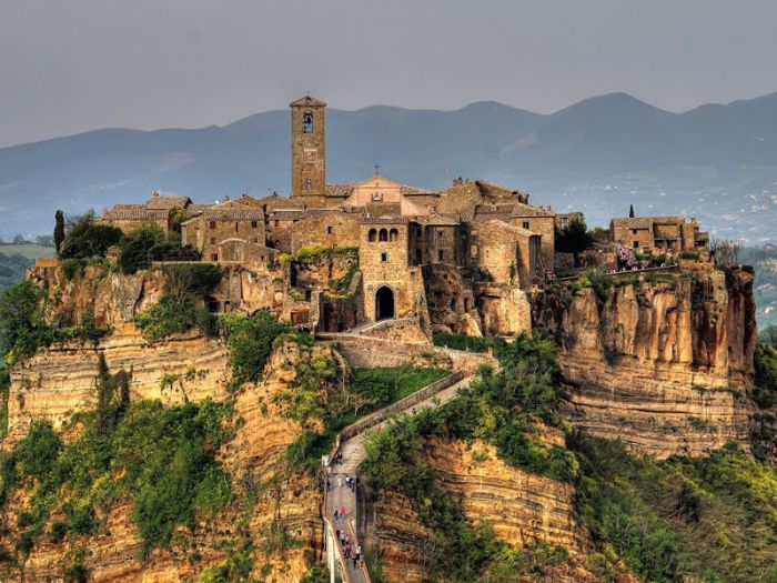 10 Most Famous Abandoned Places In the World | Civita di Bagnoregio, Viterbo, Italy