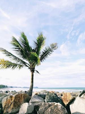 Permandangan Indah di Pantai Pulau Kekabu Marang