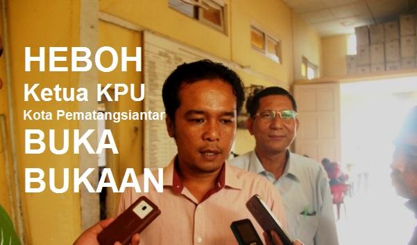 HEBOH! Ketua KPU Kota Pematangsiantar Mangasi Purba Buka-Bukaan Soal Pilkada Susulan Siantar