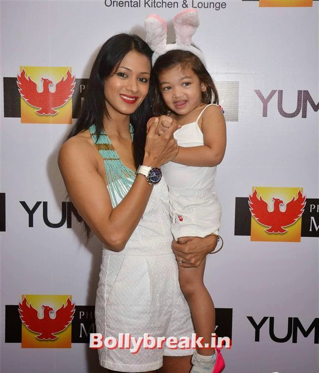Barkha Bisht with daughter, Crystal, Mouli & Mouni  at Easter Celebrations