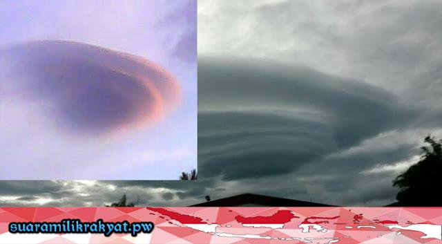 Awan 'UFO' di Bukittinggi, Sumatera Barat