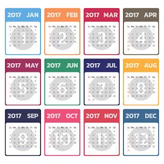2017カレンダー無料テンプレート127
