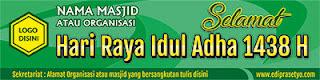 Contoh Desain Banner Hari Raya Idul Adha 2017
