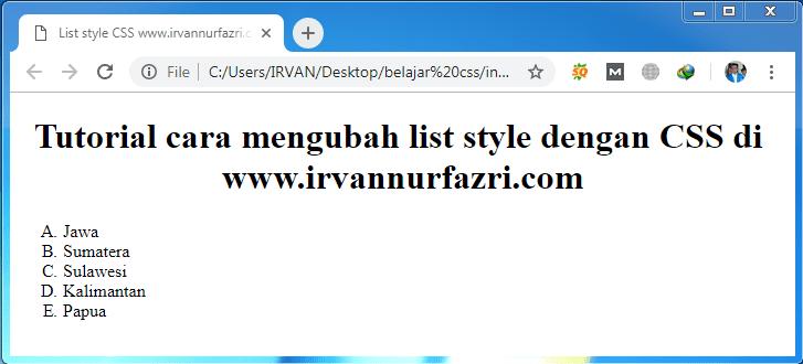 list style type alpha - #irvangen