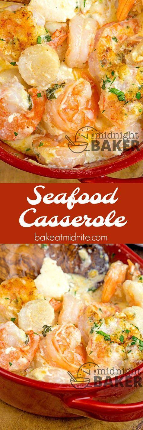 SEAFOOD CASSEROLE #CASSEROLE #SEAFOOD #DINNER