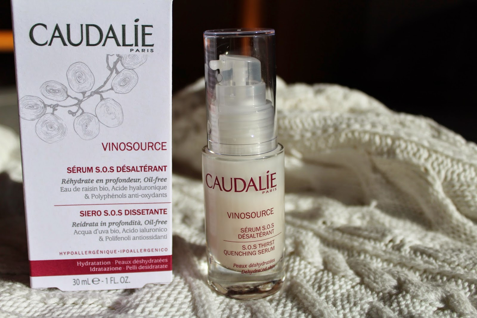 Caudalie Siero S.O.S Vinosource Dissetante : review