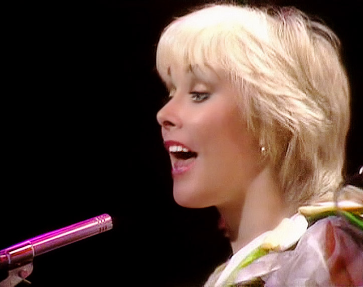 Cheryl Baker singing with Bucks Fizz - BBC Top of the Pops, 1982