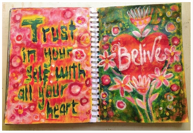 Believe Art journal class