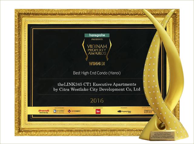 The Link Ciputra đoạt giải nhất khu căn hộ cao cấp tốt nhất Hà Nội