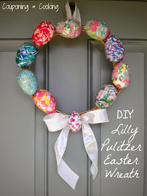 lilly pulitzer easter egg wreath