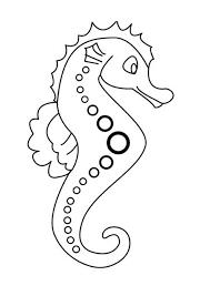 Seahorse Coloring Page 3