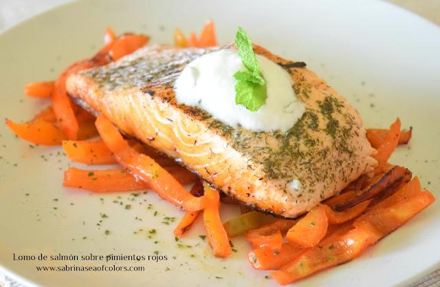 Lomo de salmón marinado a la plancha