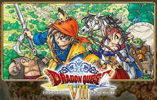 Imagen con el arte gráfico del DVD de Dragon Quest VIII, Play Station 2, 2004, Square-Enix