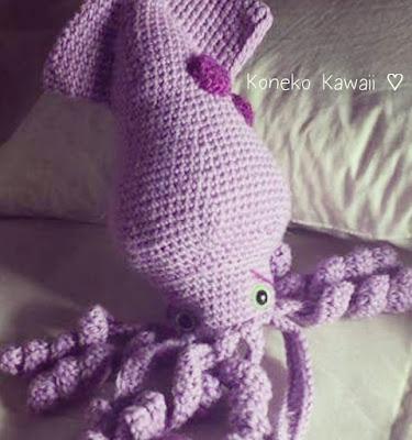 Kawaii Kraken Free Amigurumi Pattern