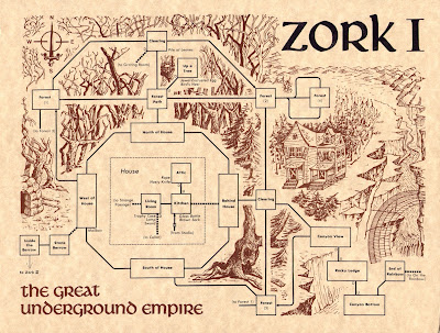 Zork I Forest Map