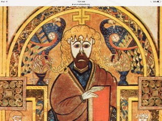 Book of Kells, Folio 032v, Christ Enthroned