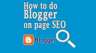 blogger, on page seo,