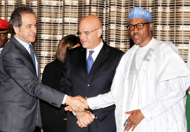 buhari meeting agip officials
