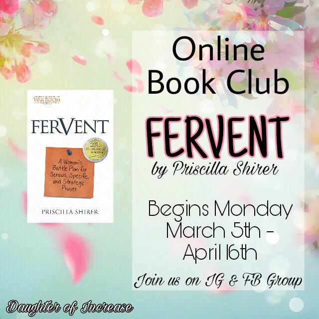 DOI Book Club - Fervent by Priscilla Shirer