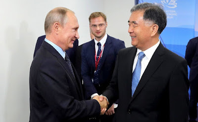 Vladimir Putin had a meeting with Vice Premier of the People's Republic of China State Council Wang Yang.