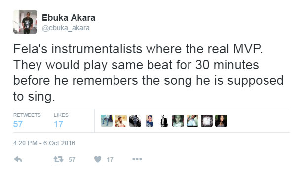 Felabration: See what Twitter user said about music legend Fela