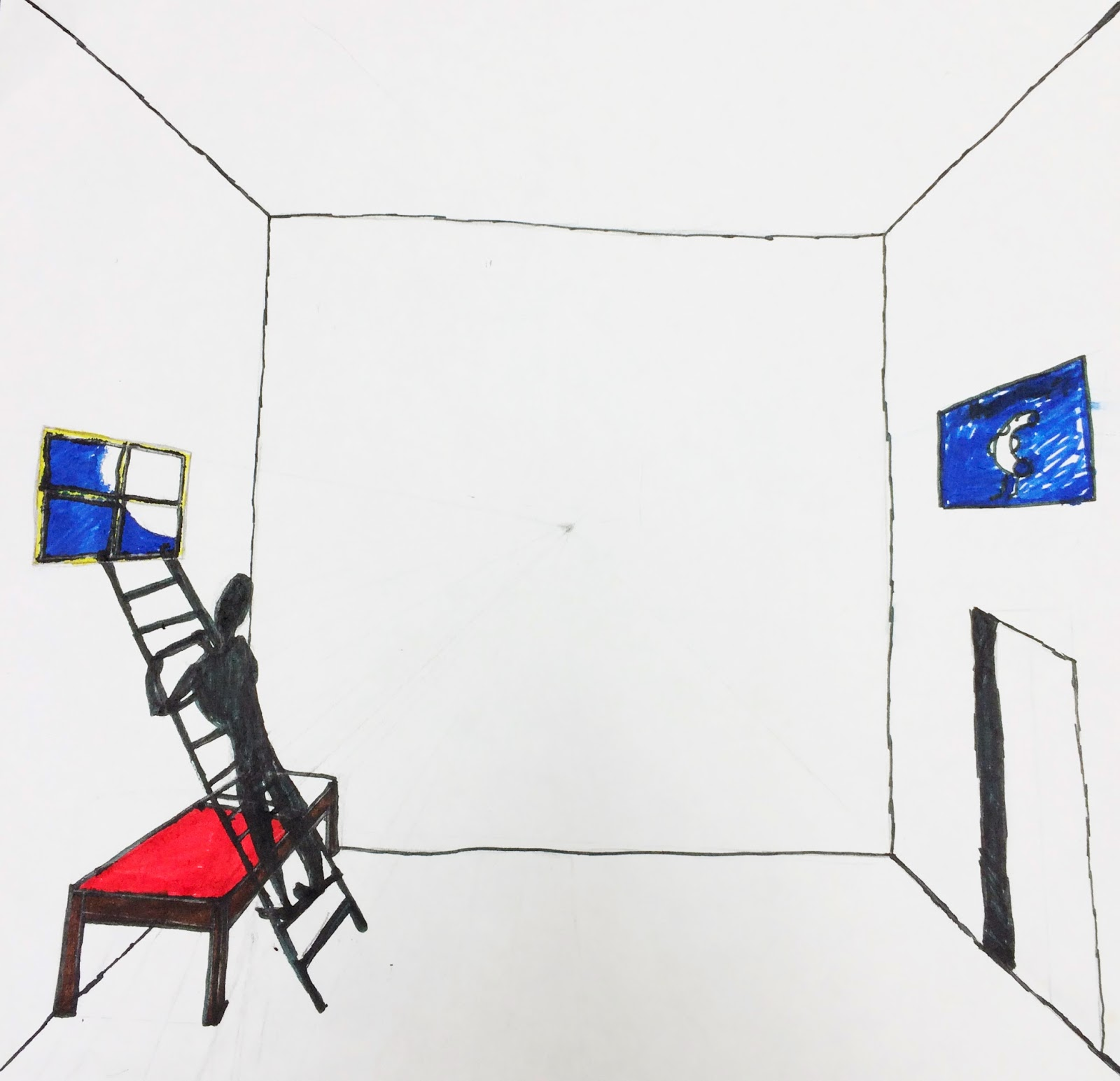 The Helpful Art Teacher Draw A Surrealistic Room In One