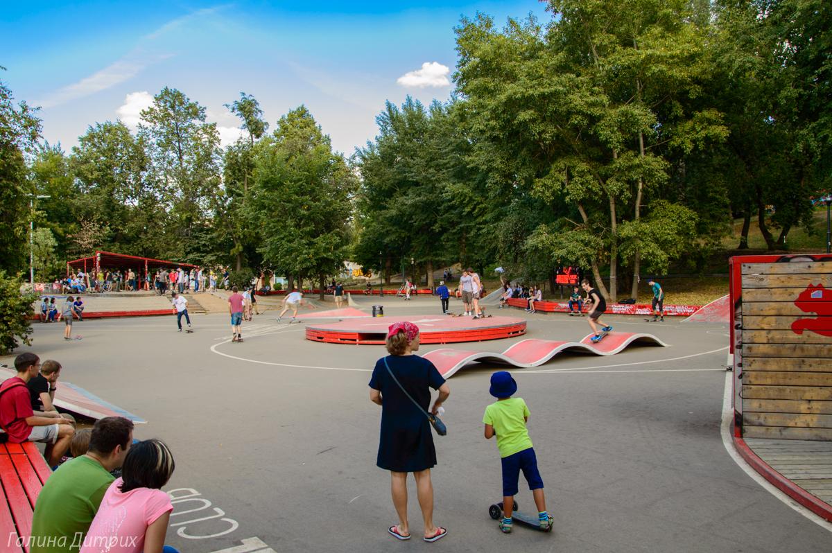 Парк Горького площадка для тренировки
