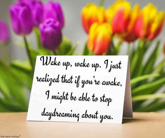 good morning quotes for her to wake up to with card