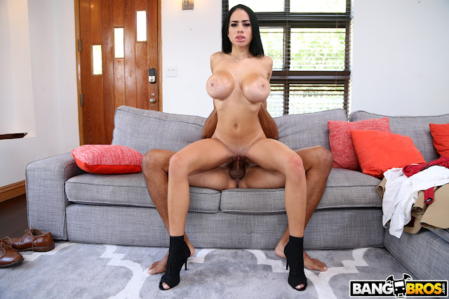 Victoria June - Naughty House Guest And Her Juicy Big Tits ## BANG BROS
