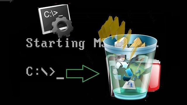 كيفية حذف مجلد من داخل مجلد باستخدام cmd