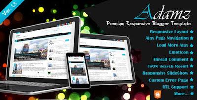 ADAMZ v1.3 Responsive Premium Blogger Template