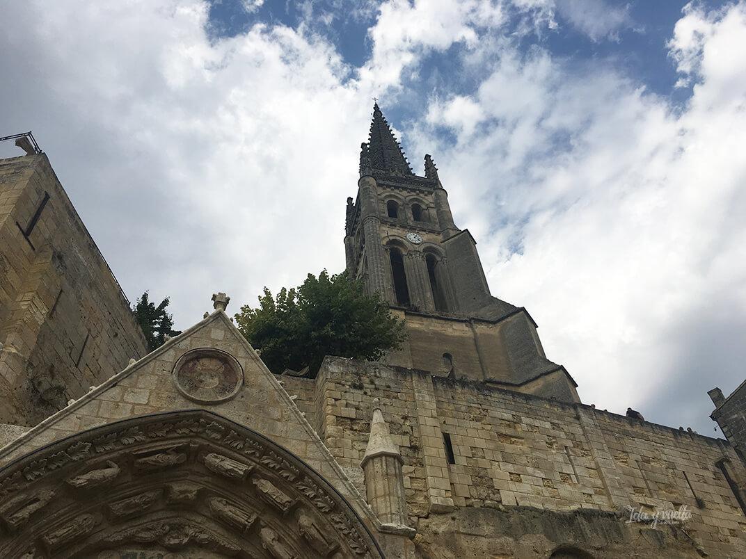 Iglesia troglodítica en Saint-Emilion