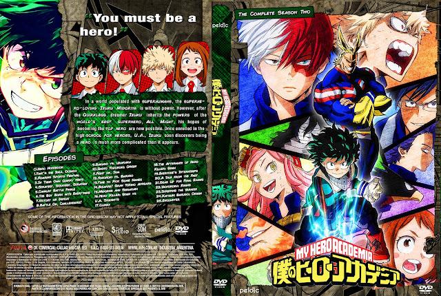Capa DVD Boku No Hero (My Hero Academia) 2ª Temporada