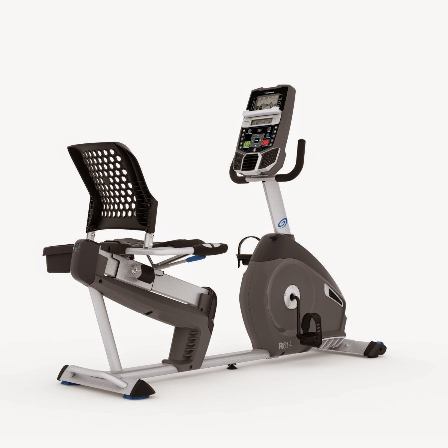 Nautilus R614 Recumbent Exercise Bike, review features and compare with Nautilus R616, 22 workout programs, 20 resistance levels