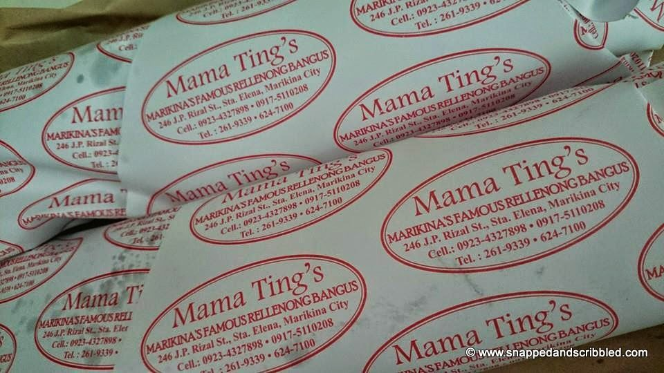 Marikina's Famous Mama Ting's Rellenong Bangus Holiday Schedule
