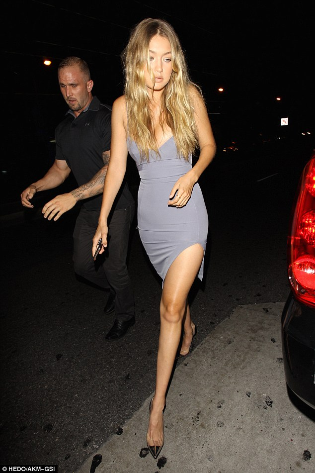 Gigi Hadid flaunts cleavage and legs at Kylie's 18th Birthday Party‏