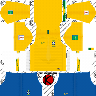 Brazil 2018 World Cup Kit -  Dream League Soccer Kits