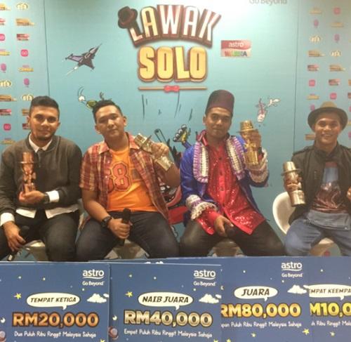 pemenang Lawak Solo 2016, siapa menang gelanggang akhir Lawak Solo 2016, danial juara Lawak Solo musim pertama, keputusan rasmi juara Lawak Solo musim 1 tahun 2016