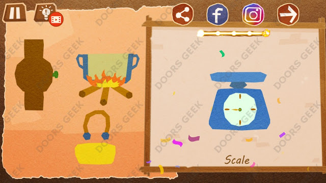 Chigiri: Paper Puzzle Apprentice Level 29 (Scale) Solution, Walkthrough, Cheats